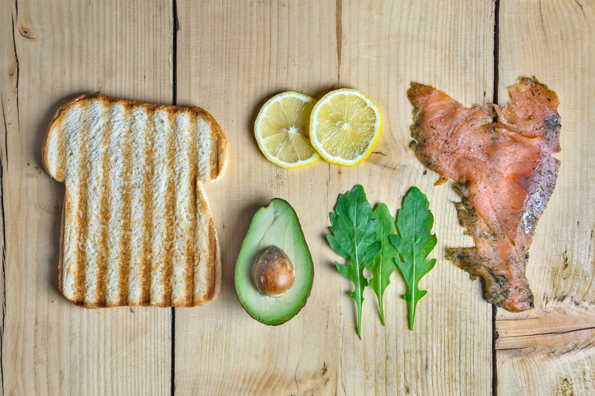 toasted-sandwich-salmon-avocado-rocket-salad-lemon-coffee-shop-bristol